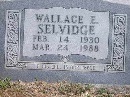 SELVIDGE, WALLACE EUGENE - Boone County, Arkansas | WALLACE EUGENE SELVIDGE - Arkansas Gravestone Photos