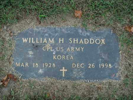 SHADDOX  (VETERAN KOR), WILLIAM H - Boone County, Arkansas | WILLIAM H SHADDOX  (VETERAN KOR) - Arkansas Gravestone Photos