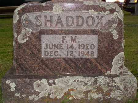 SHADDOX, F.M. - Boone County, Arkansas | F.M. SHADDOX - Arkansas Gravestone Photos