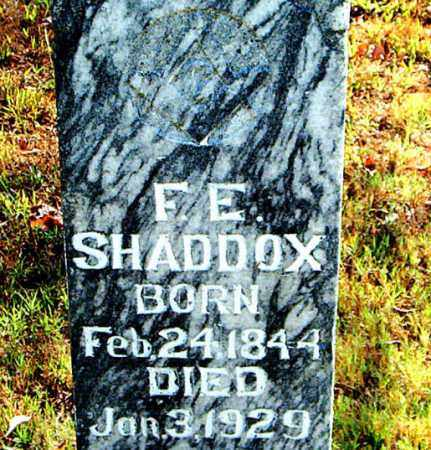 SHADDOX, F.  E. - Boone County, Arkansas | F.  E. SHADDOX - Arkansas Gravestone Photos