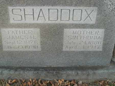 SHADDOX, SINTHONIA - Boone County, Arkansas | SINTHONIA SHADDOX - Arkansas Gravestone Photos