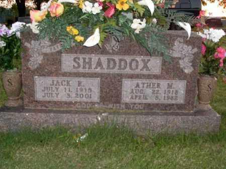 SHADDOX, ATHER M. - Boone County, Arkansas   ATHER M. SHADDOX - Arkansas Gravestone Photos