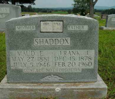 SHADDOX, FRANK J. - Boone County, Arkansas | FRANK J. SHADDOX - Arkansas Gravestone Photos