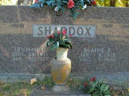 SHADDOX, BLAINE F. - Boone County, Arkansas | BLAINE F. SHADDOX - Arkansas Gravestone Photos
