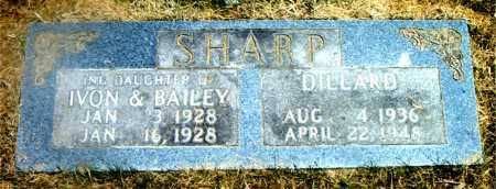 SHARP, INFANT DAUGHTER - Boone County, Arkansas | INFANT DAUGHTER SHARP - Arkansas Gravestone Photos