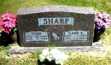 SHARP, GABE  BAILEY - Boone County, Arkansas | GABE  BAILEY SHARP - Arkansas Gravestone Photos