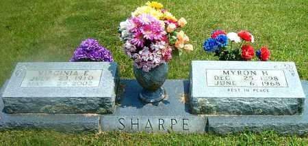 SHARPE, MYRON  H. - Boone County, Arkansas | MYRON  H. SHARPE - Arkansas Gravestone Photos