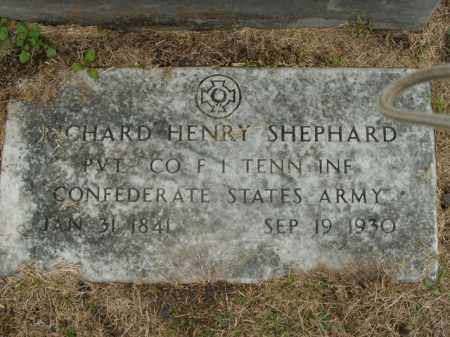 SHEPHARD  (VETERAN CSA), RICHARD HENRY - Boone County, Arkansas | RICHARD HENRY SHEPHARD  (VETERAN CSA) - Arkansas Gravestone Photos