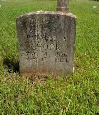 SHOOK, PARALLE A. - Boone County, Arkansas   PARALLE A. SHOOK - Arkansas Gravestone Photos