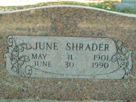 SHRADER, JUNE PEARL - Boone County, Arkansas | JUNE PEARL SHRADER - Arkansas Gravestone Photos
