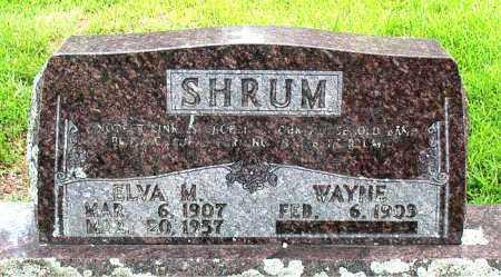 SHRUM, ELVA  M - Boone County, Arkansas | ELVA  M SHRUM - Arkansas Gravestone Photos