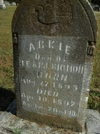 SIGMON, ARKIE - Boone County, Arkansas | ARKIE SIGMON - Arkansas Gravestone Photos