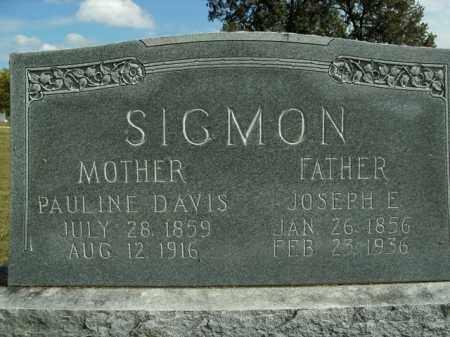 SIGMON, PAULINE - Boone County, Arkansas | PAULINE SIGMON - Arkansas Gravestone Photos