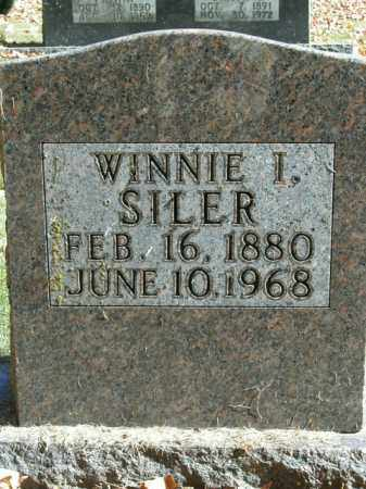 SILER, WINNIE I. - Boone County, Arkansas | WINNIE I. SILER - Arkansas Gravestone Photos