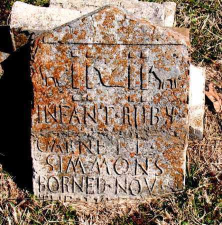 SIMMONS, RUBY GARNETT - Boone County, Arkansas | RUBY GARNETT SIMMONS - Arkansas Gravestone Photos