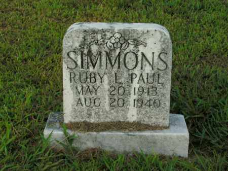 PAUL SIMMONS, RUBY L. - Boone County, Arkansas | RUBY L. PAUL SIMMONS - Arkansas Gravestone Photos