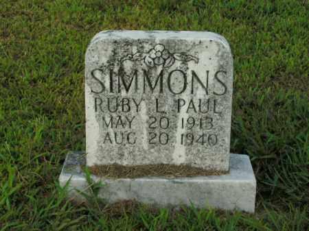 SIMMONS, RUBY L. - Boone County, Arkansas | RUBY L. SIMMONS - Arkansas Gravestone Photos