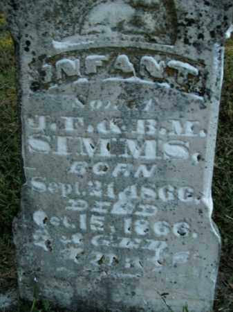 SIMMS, INFANT SON - Boone County, Arkansas   INFANT SON SIMMS - Arkansas Gravestone Photos