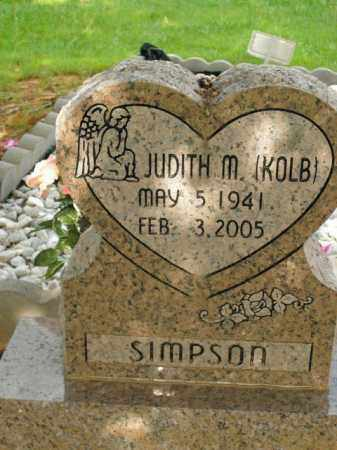 KOLB SIMPSON, JUDITH M. - Boone County, Arkansas | JUDITH M. KOLB SIMPSON - Arkansas Gravestone Photos