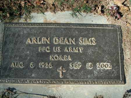 SIMS  (VETERAN KOR), ARLIN DEAN - Boone County, Arkansas | ARLIN DEAN SIMS  (VETERAN KOR) - Arkansas Gravestone Photos