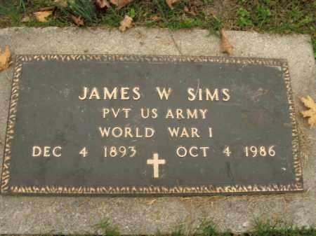 SIMS  (VETERAN WWI), JAMES W - Boone County, Arkansas | JAMES W SIMS  (VETERAN WWI) - Arkansas Gravestone Photos