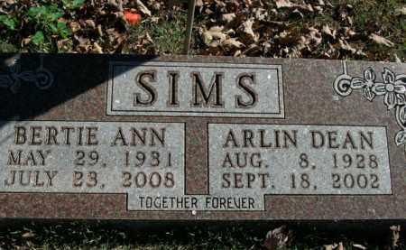 SIMS, BERTIE ANN - Boone County, Arkansas | BERTIE ANN SIMS - Arkansas Gravestone Photos