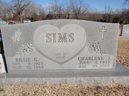 SIMS, BILLIE G - Boone County, Arkansas   BILLIE G SIMS - Arkansas Gravestone Photos