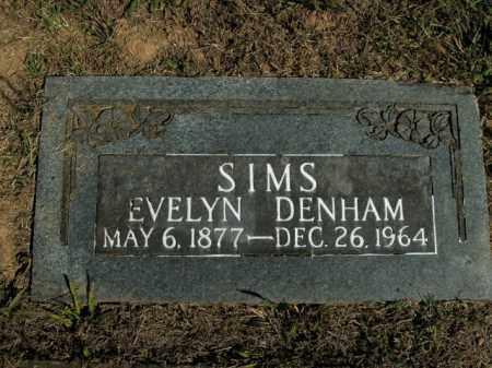 SIMS, EVELYN DENHAM - Boone County, Arkansas | EVELYN DENHAM SIMS - Arkansas Gravestone Photos