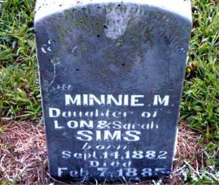 SIMS, MINNIE M. - Boone County, Arkansas | MINNIE M. SIMS - Arkansas Gravestone Photos