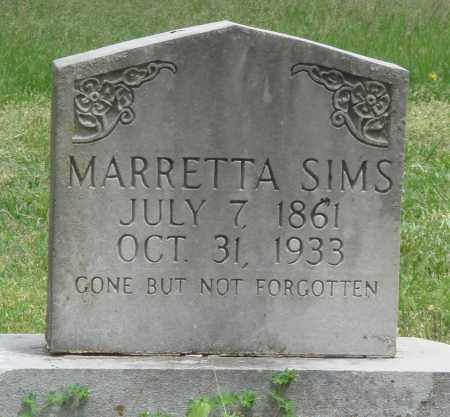 PRUITT SIMS, MARRETTA - Boone County, Arkansas | MARRETTA PRUITT SIMS - Arkansas Gravestone Photos