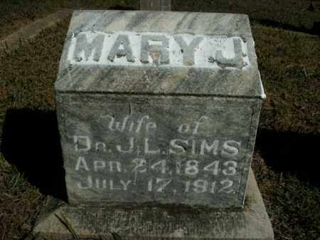 SIMS, MARY J. - Boone County, Arkansas   MARY J. SIMS - Arkansas Gravestone Photos