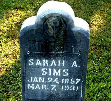 SIMS, SARAH A. - Boone County, Arkansas | SARAH A. SIMS - Arkansas Gravestone Photos
