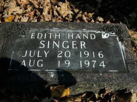 SINGER, EDITH - Boone County, Arkansas | EDITH SINGER - Arkansas Gravestone Photos