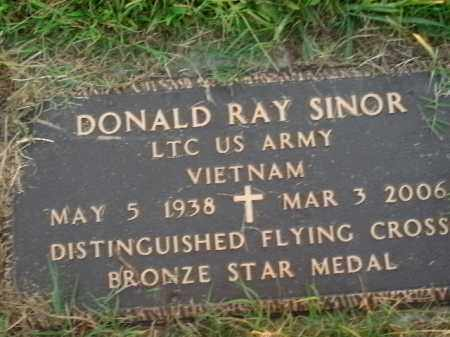 SINOR  (VETERAN VIET), DONALD RAY - Boone County, Arkansas   DONALD RAY SINOR  (VETERAN VIET) - Arkansas Gravestone Photos