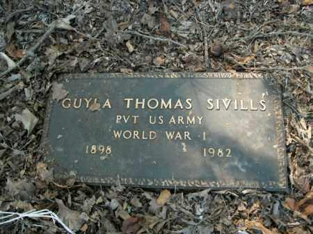SIVILLS  (VETERAN WWI), GUYLA THOMAS - Boone County, Arkansas | GUYLA THOMAS SIVILLS  (VETERAN WWI) - Arkansas Gravestone Photos