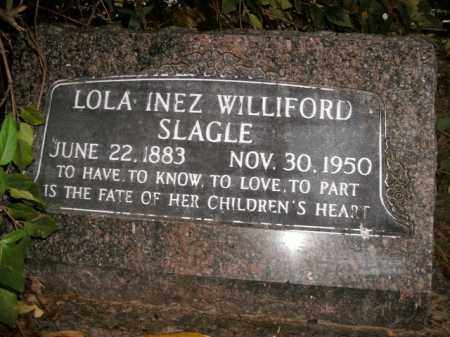WILLIFORD SLAGLE, LOLA INEZ - Boone County, Arkansas | LOLA INEZ WILLIFORD SLAGLE - Arkansas Gravestone Photos