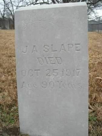 SLAPE, JOHN ANDERSON - Boone County, Arkansas | JOHN ANDERSON SLAPE - Arkansas Gravestone Photos
