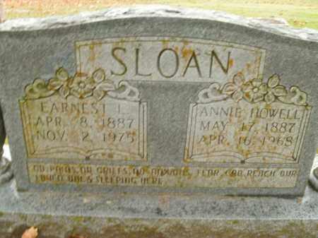 SLOAN, EARNEST L. - Boone County, Arkansas | EARNEST L. SLOAN - Arkansas Gravestone Photos