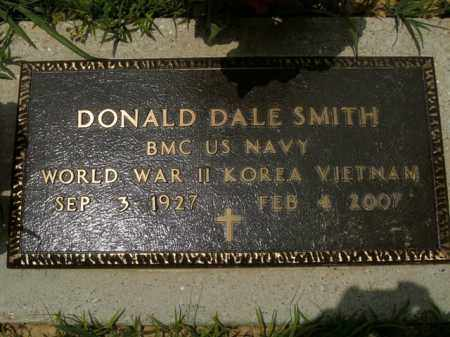 SMITH  (VETERAN 3 WARS), DONALD DALE - Boone County, Arkansas | DONALD DALE SMITH  (VETERAN 3 WARS) - Arkansas Gravestone Photos