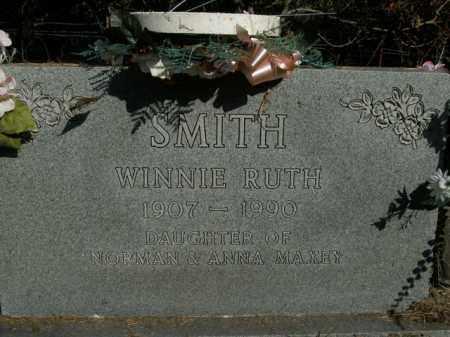 MAXEY SMITH, WINNIE RUTH - Boone County, Arkansas | WINNIE RUTH MAXEY SMITH - Arkansas Gravestone Photos