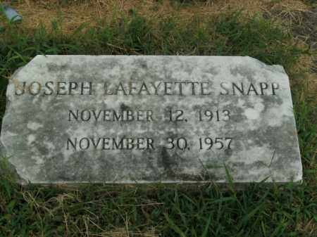SNAPP, JOSEPH LAFAYETTE - Boone County, Arkansas | JOSEPH LAFAYETTE SNAPP - Arkansas Gravestone Photos