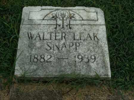 SNAPP, WALTER LEAK - Boone County, Arkansas | WALTER LEAK SNAPP - Arkansas Gravestone Photos