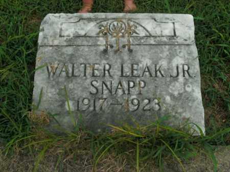 SNAPP, WALTER LEAK, JR - Boone County, Arkansas | WALTER LEAK, JR SNAPP - Arkansas Gravestone Photos