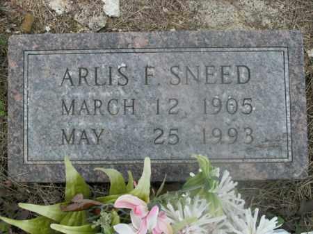 SNEED, ARLIS F. - Boone County, Arkansas   ARLIS F. SNEED - Arkansas Gravestone Photos