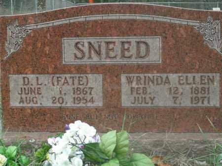 SNEED, D.L. (FATE) - Boone County, Arkansas | D.L. (FATE) SNEED - Arkansas Gravestone Photos