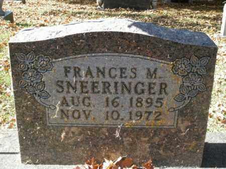 SNEERINGER, FRANCES M. - Boone County, Arkansas   FRANCES M. SNEERINGER - Arkansas Gravestone Photos