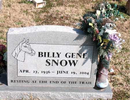 SNOW, BILLY GENE - Boone County, Arkansas | BILLY GENE SNOW - Arkansas Gravestone Photos