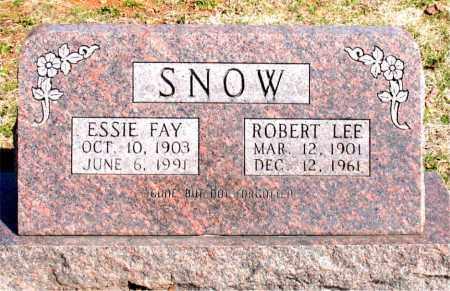 SNOW, ESSIE FAY - Boone County, Arkansas | ESSIE FAY SNOW - Arkansas Gravestone Photos
