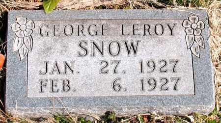 SNOW, GEORGE LEROY - Boone County, Arkansas   GEORGE LEROY SNOW - Arkansas Gravestone Photos