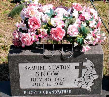 SNOW, SAMUEL NEWTON - Boone County, Arkansas | SAMUEL NEWTON SNOW - Arkansas Gravestone Photos